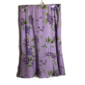 Alfred Dunner Plus Size Lilac Floral Skirt